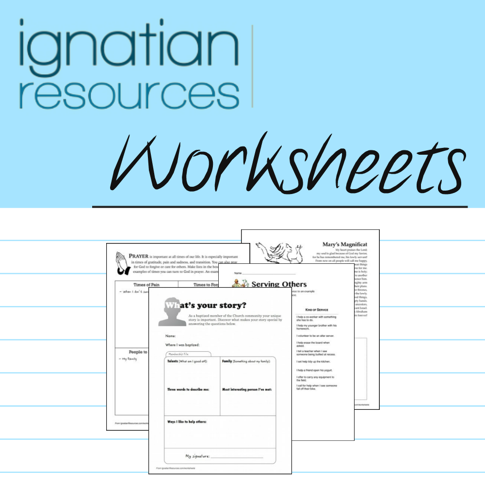 Worksheets | Ignatian Resources