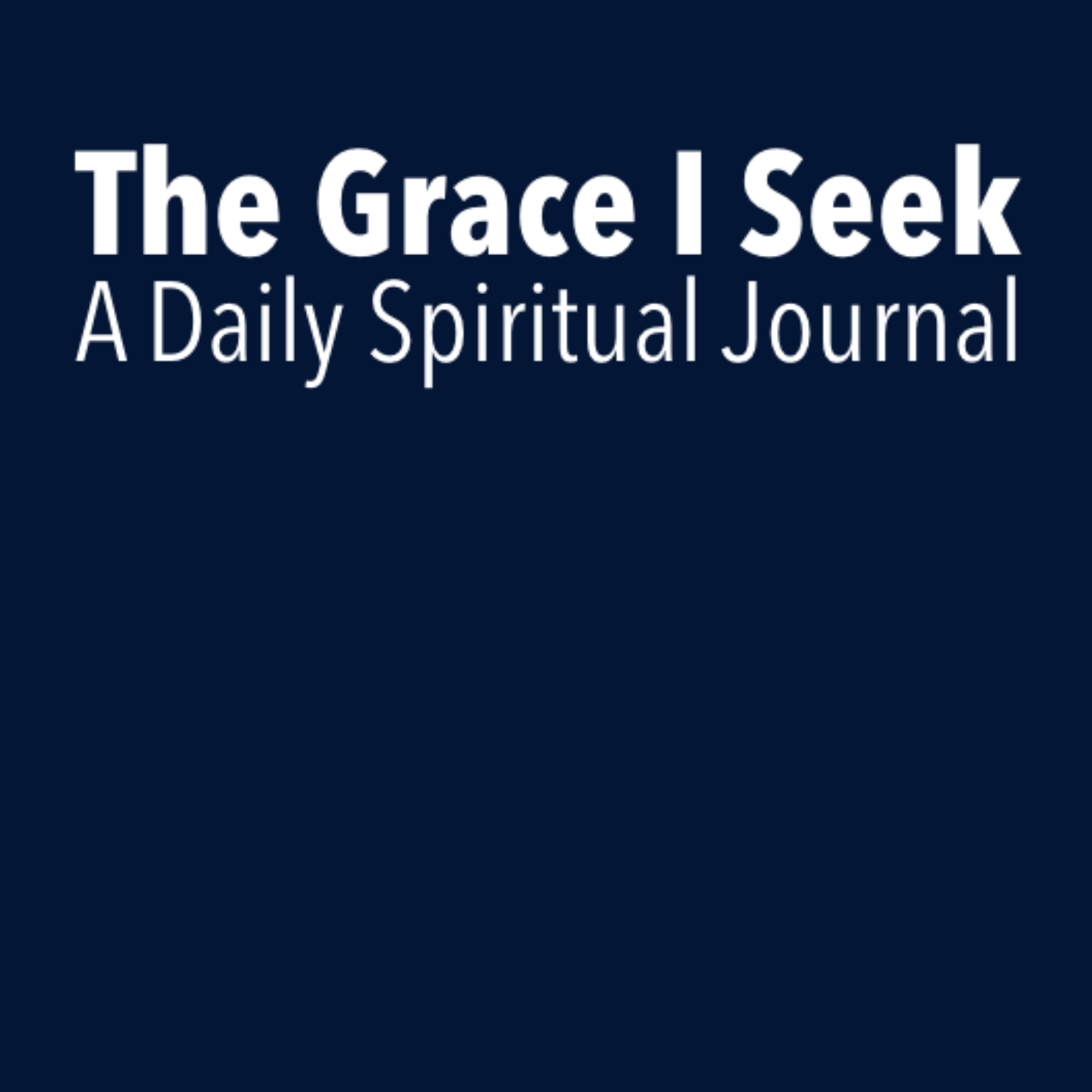 Grace I Seek Journal Logo